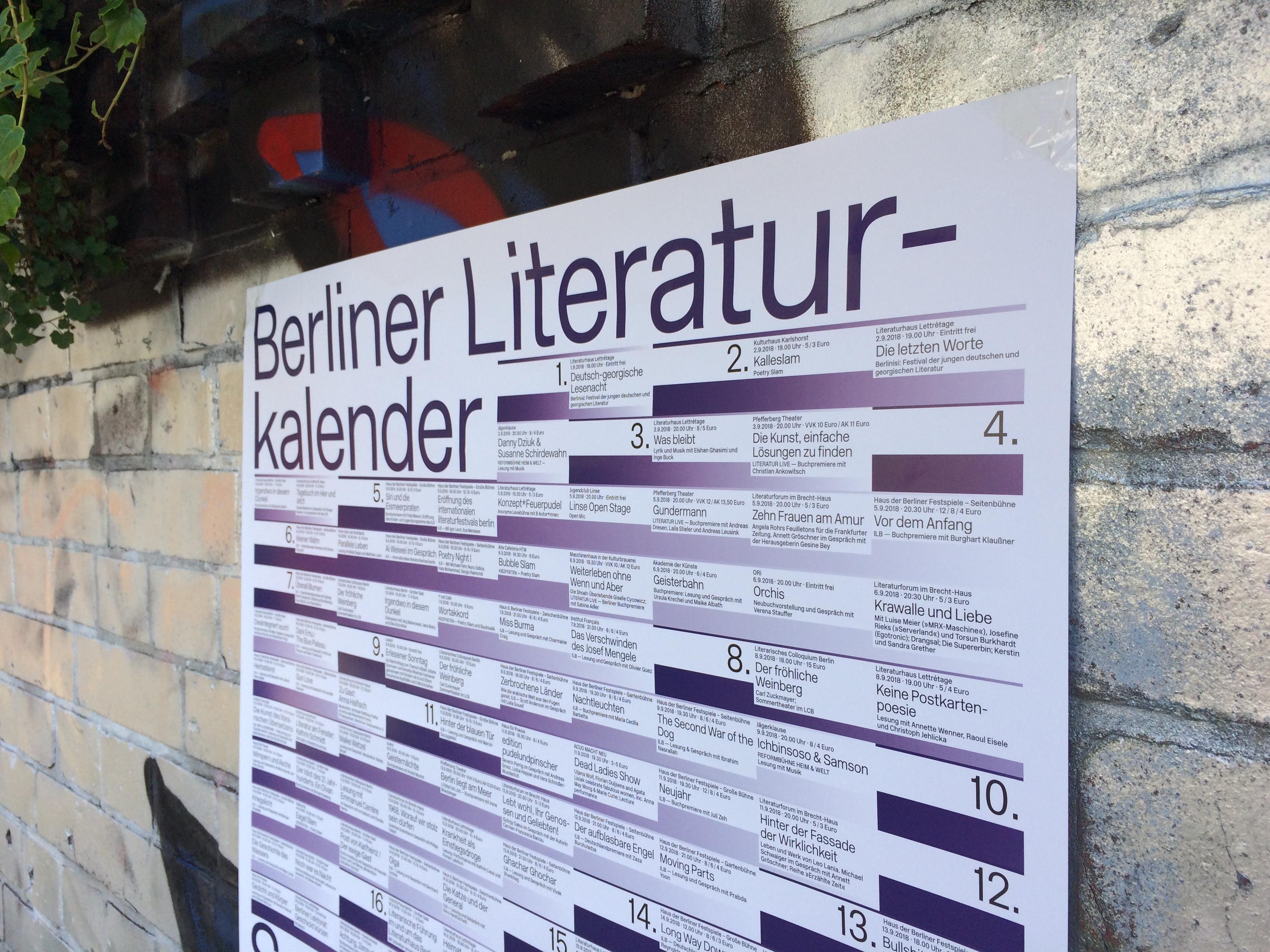 Der erste Berliner Literaturkalender